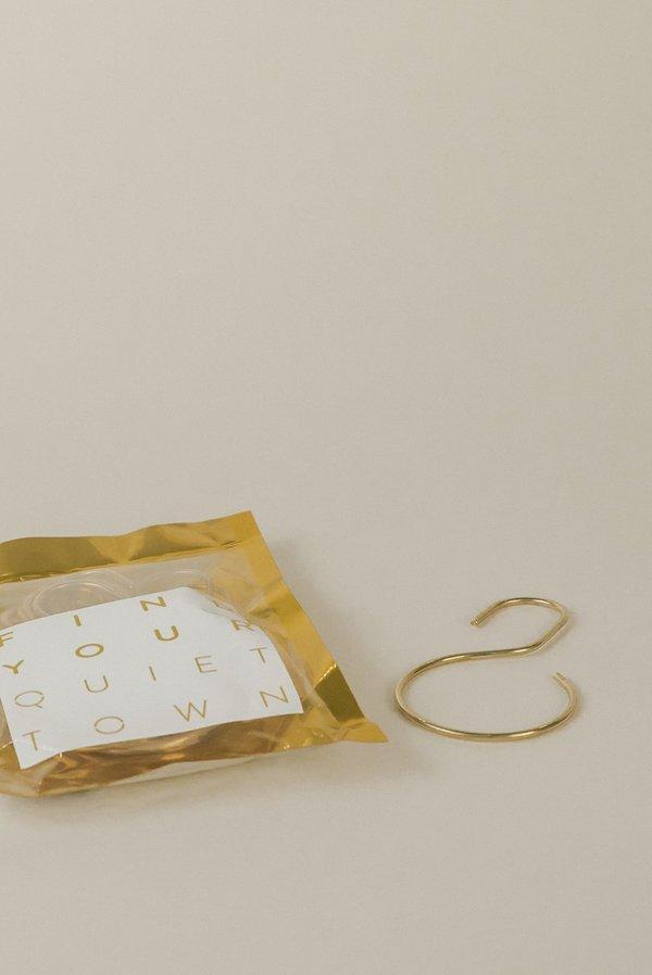 81c4d9956cd quiet town Shower Curtain Hooks - Brass