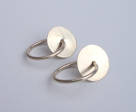 Octave Jewelry Washer Hoop Earrings - Silver