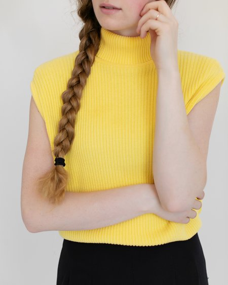 Kaleidos Vintage Fiorlini International Sleeveless Turtleneck - Lemon Yellow