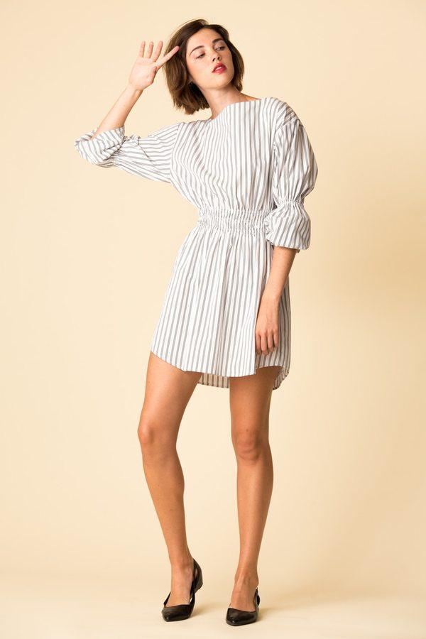 A.L.C. Sterling striped dress Sale Big Sale cIHvF