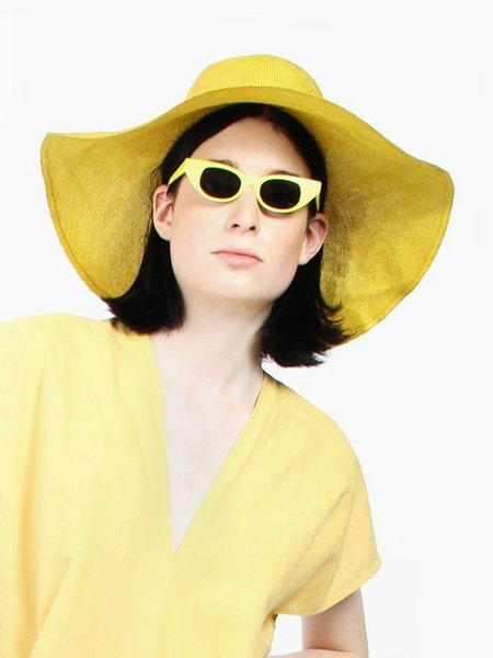 Adam Selman x Le Specs The Breaker Sunglasses - Yellow