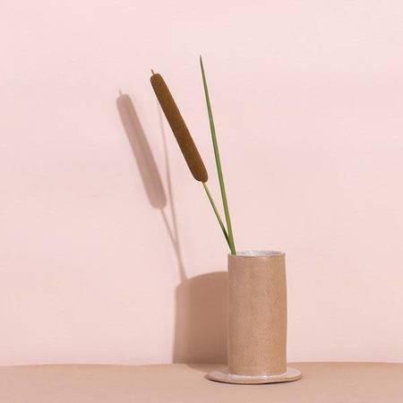 Virginia Sin Speckled White Well Vase