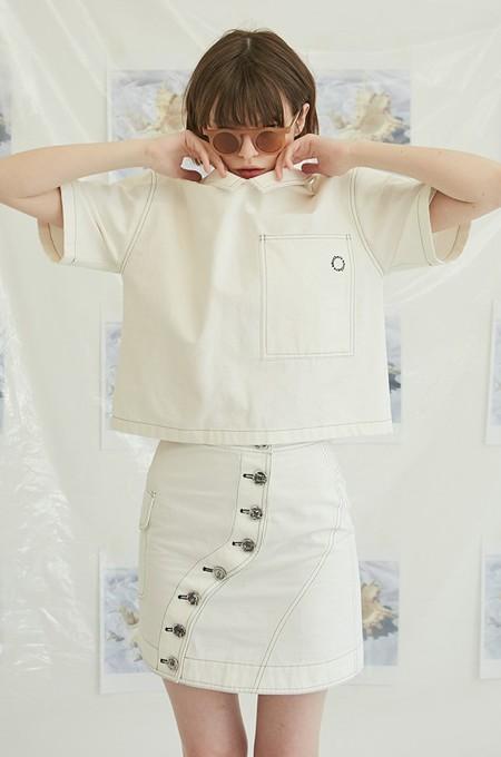 ANOTHER A Stitch Pocket Shirts - WHITE