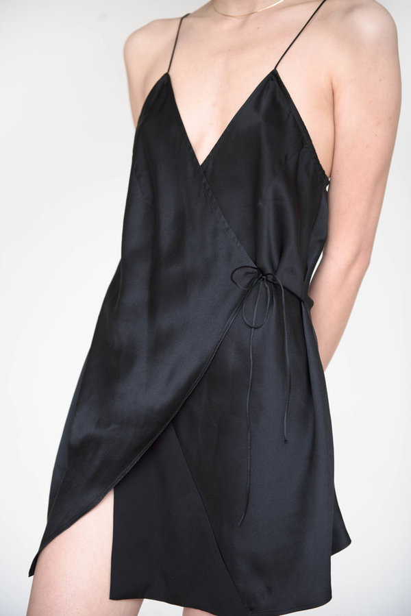 eba5370a0dcb GARMENTORY EXCLUSIVE | Index Series Annecy Wrap Slip Dress | Garmentory