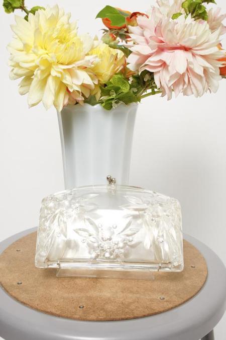 Cloak & Dagger Vintage CINDERELLA CLUTCH - clear crystal
