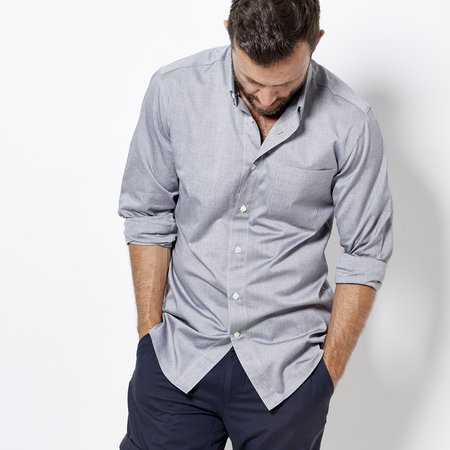Footage Chambray Work Shirt - Grey