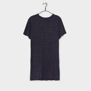 Kowtow Oversized Tee Dress - Navy Dots