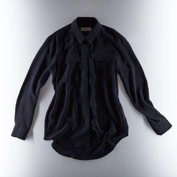 Footage Silk Shirt - Black