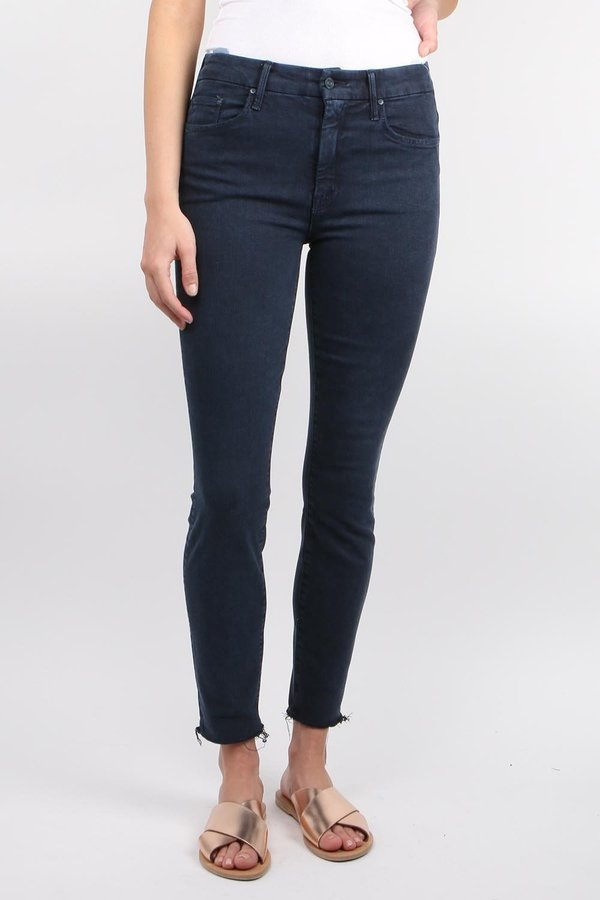 41d8195a67c42 Mother Denim High Waisted Looker Ankle Fray jean - Midnight