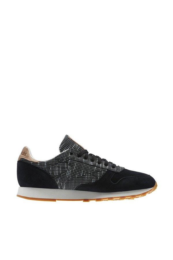 dc858a3b7b90 Reebok Classic Leather EBK Sneakers - Black   Stark Grey   Sand ...