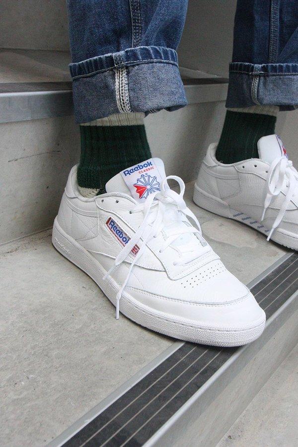 Reebok Club C 85 SO Sneakers White Solid Grey Blue on Garmentory