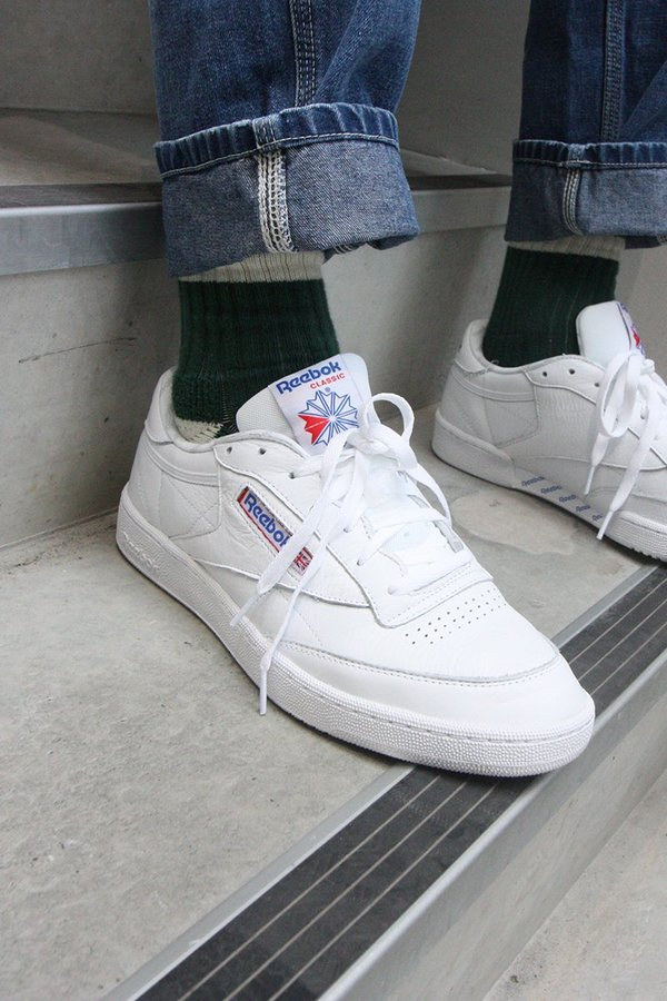 aa4afd0f27eac Reebok Club C 85 SO Sneakers - White   Solid Grey   Blue. sold out