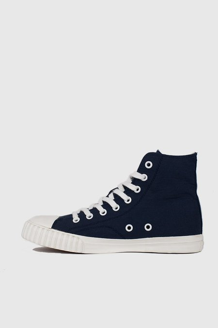 Unisex Bata Bullets High Cut Sneakers - Navy/Cream