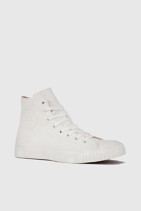 Unisex Bata Bullers High Cut Sneakers - White/Cream