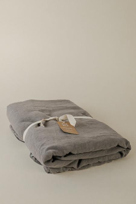 Hawkins NY Linen Duvet Cover (Queen) - Dark Grey