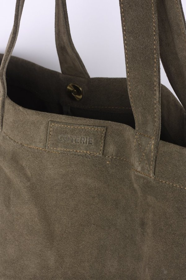 Coterie Suede Tote Bag - Olive on Garmentory