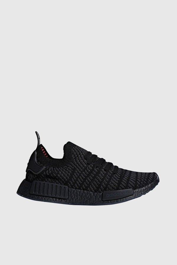 Adidas Originals NMD R1 STLT Primeknit Sneakers - Core Black   Utility Black    Solar Pink  21a1fa6c0