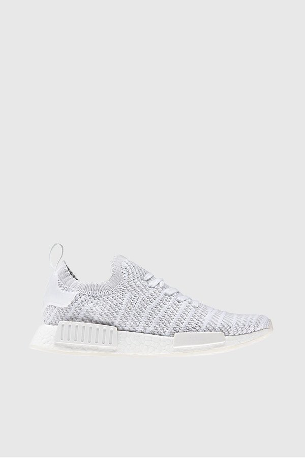 detailed look 0cbd9 f18f2 Adidas Originals NMD R1 STLT Primeknit Sneakers - White/Grey One/Solar Pink  on Garmentory
