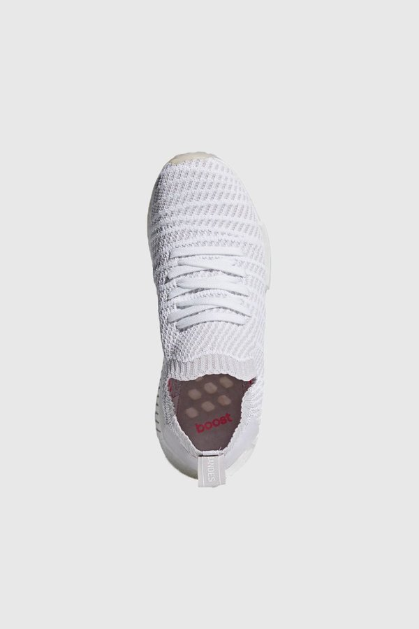 e7923c330679 Adidas Originals NMD R1 STLT Primeknit Sneakers - White Grey One Solar Pink