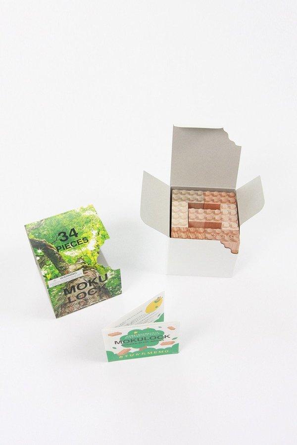Kids Mokulock Wooden Toy Blocks - 34pcs