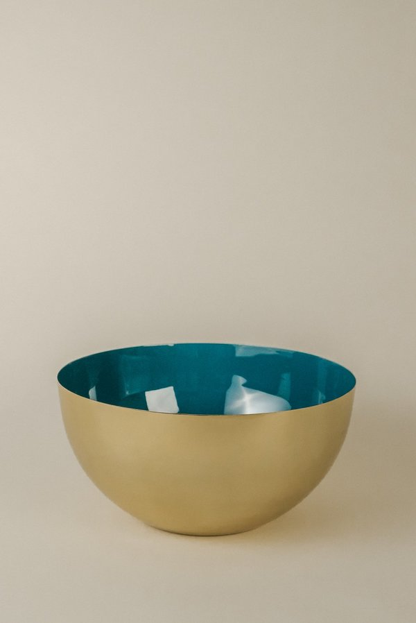 Hawkins New York Large Bowl - Brass/Peacock