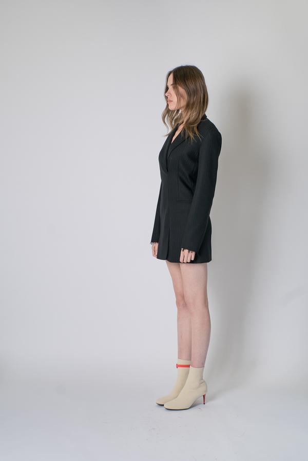 6f20f1d469d2 Helmut Lang Herringbone Blazer Dress - Black | Garmentory