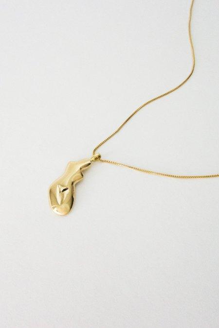 Cadette Female Form Necklace - Gold