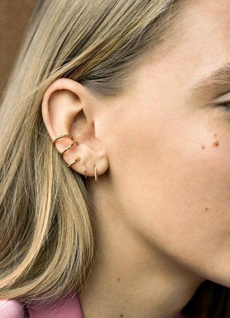 Maria Black High Polished Sofia Swirl Earring - Gold