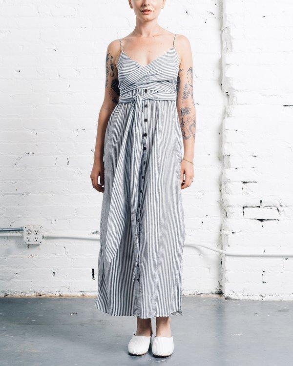 Mara Hoffman Thora Dress - black/white striped   Garmentory