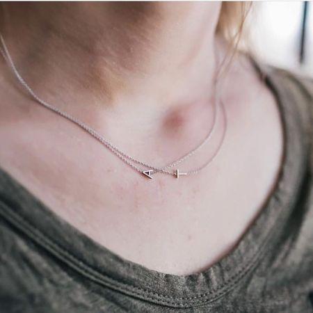 Maya Brenner Letter Necklace - Gold
