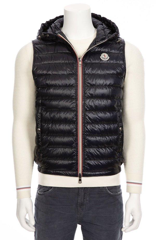 moncler navy vest