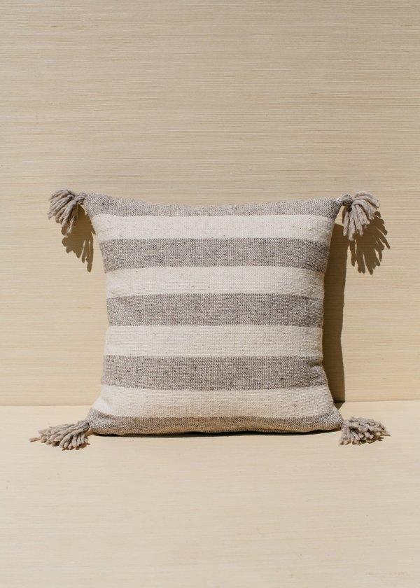 Territory Ancho Stripe Pillow - Grey