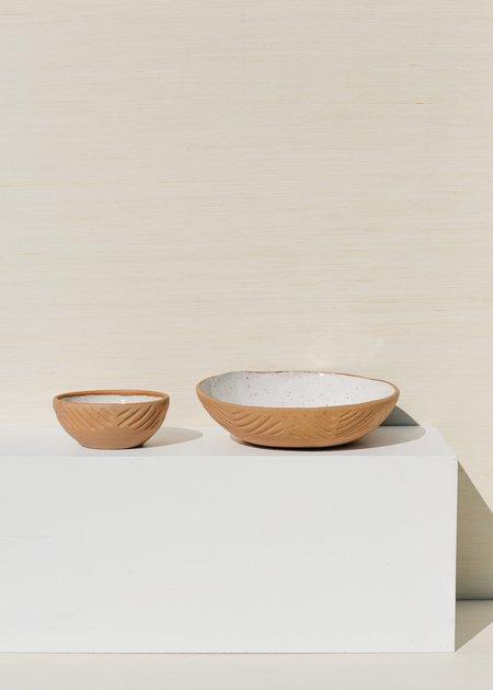 Juno Pottery Carved Slab Serving Bowl