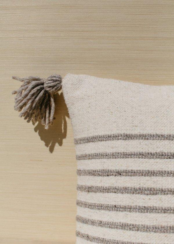 Territory Delgado Stripe Pillow - Grey