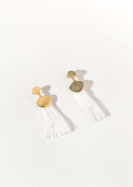 Takara Design Palma Earrings - White