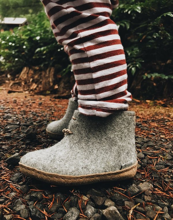 92e33b7f256e kids Glerups Wool Baby Boots - grey