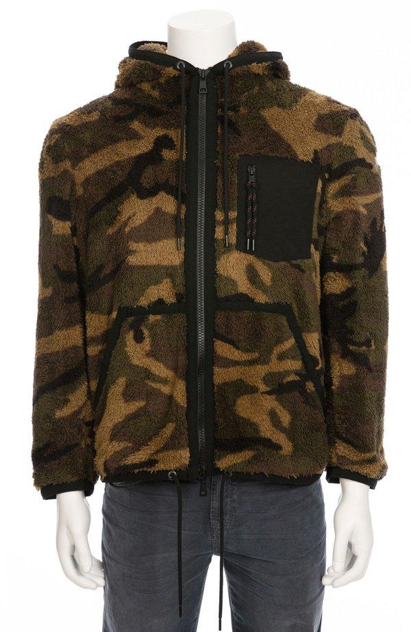 166b378e3b2c MONCLER Zip Through Fleece Hoodie - Camo