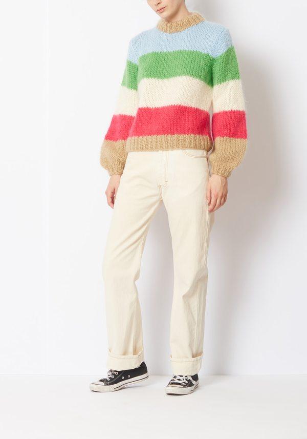 ce97129479f35 Ganni Striped Julliard Mohair Sweater - Color Blocked
