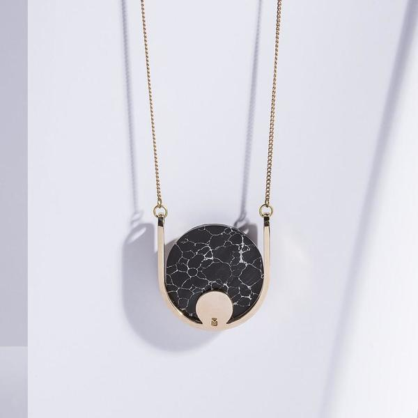 Metalepsis Projects Neutron Necklace   high polished bronze