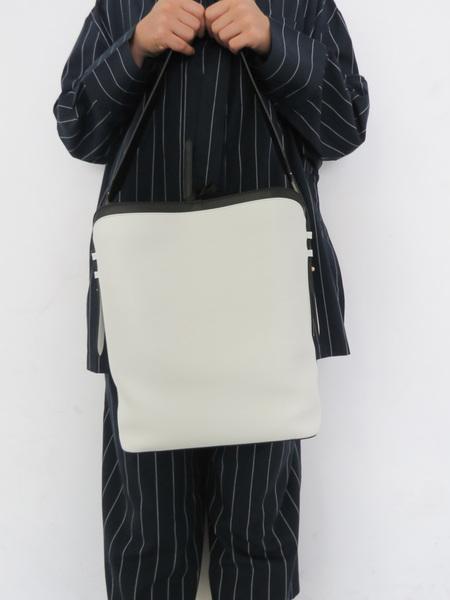 CUERO & MOR EUGENIE BAG - WHITE/BLACK