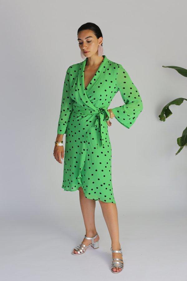 5b0e8f0eb93e Ganni Dainty Georgette Wrap Dress   Garmentory