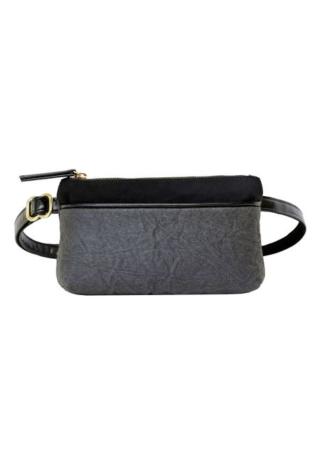 HFS Collective Pinatex Bum Bag - Grey/Black