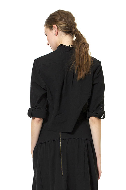 Heidi Merrick Oro Crop Button Down Tee