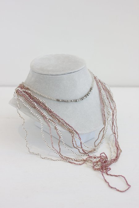 Lena Skadegard Small Stone Knotted Long Necklace
