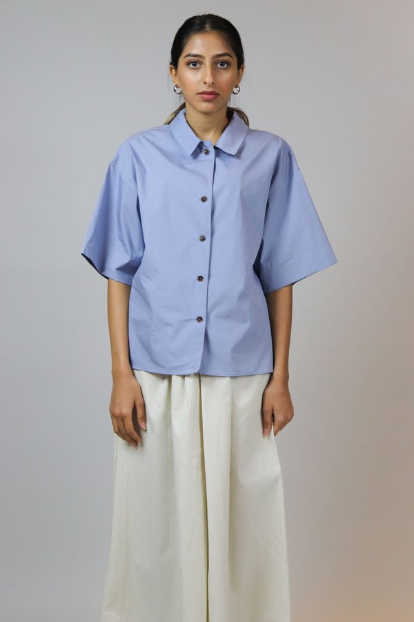 W A N T S Short Sleeves Top - Blue
