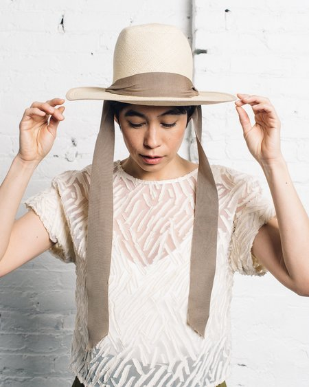 Brookes Boswell Gobo Panama Straw Hat - Natural