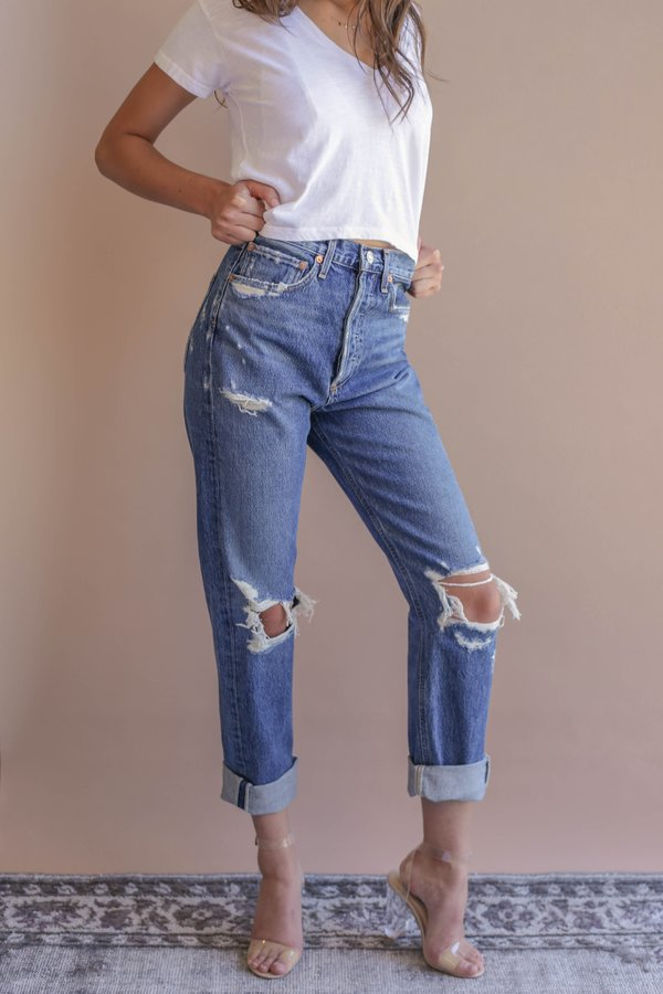 911f7ff473afb2 Agolde 90'S Mid Rise Loose Fit Jean - Psyche   Garmentory