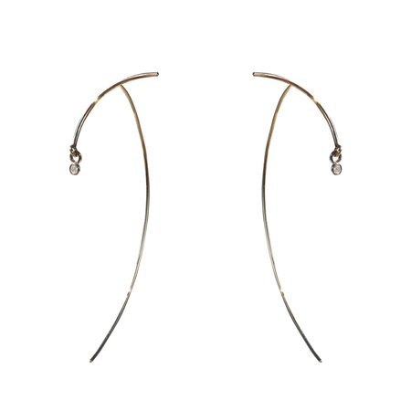 Tara 4779 Arc Stabile Earrings - Diamond