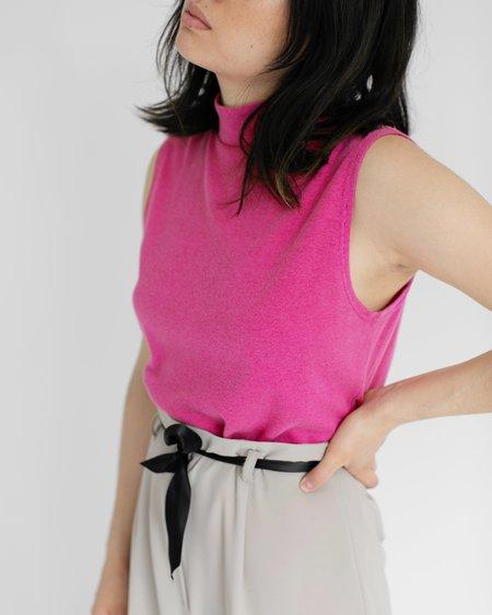 Kaleidos Vintage Pink Mock Neck Tank & Vintage Ecru High Waisted Pant