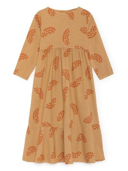 Kids Bobo Choses The Happy Sads Flounce Dress - Tan